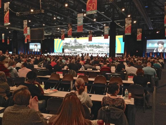 Over 2500 delegates and staff. How many will have to deal with PD in future? Photo: S. Marshall