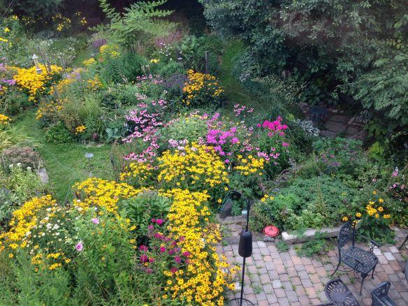 Many gardens make up the garden