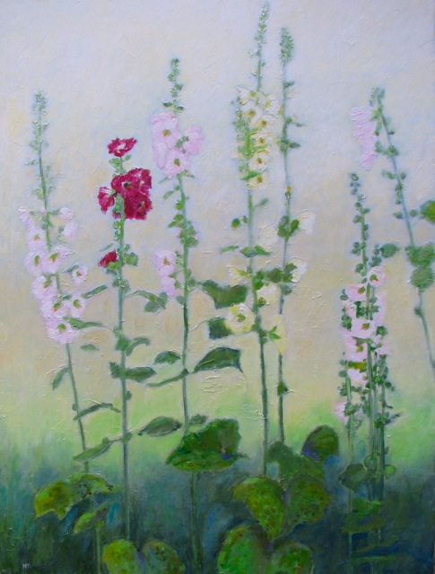 "Anne F. Marshall ""Hollyhocks"""