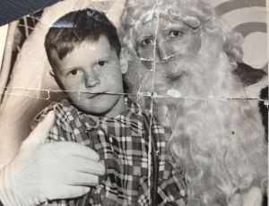 The Real Santa and me circa 1955   Photo: unknown
