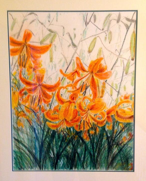"""Lilies""  original painting by Anne F Marshall '95"