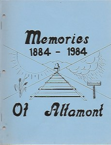 Memories of Altamont 1884 -1984 cover