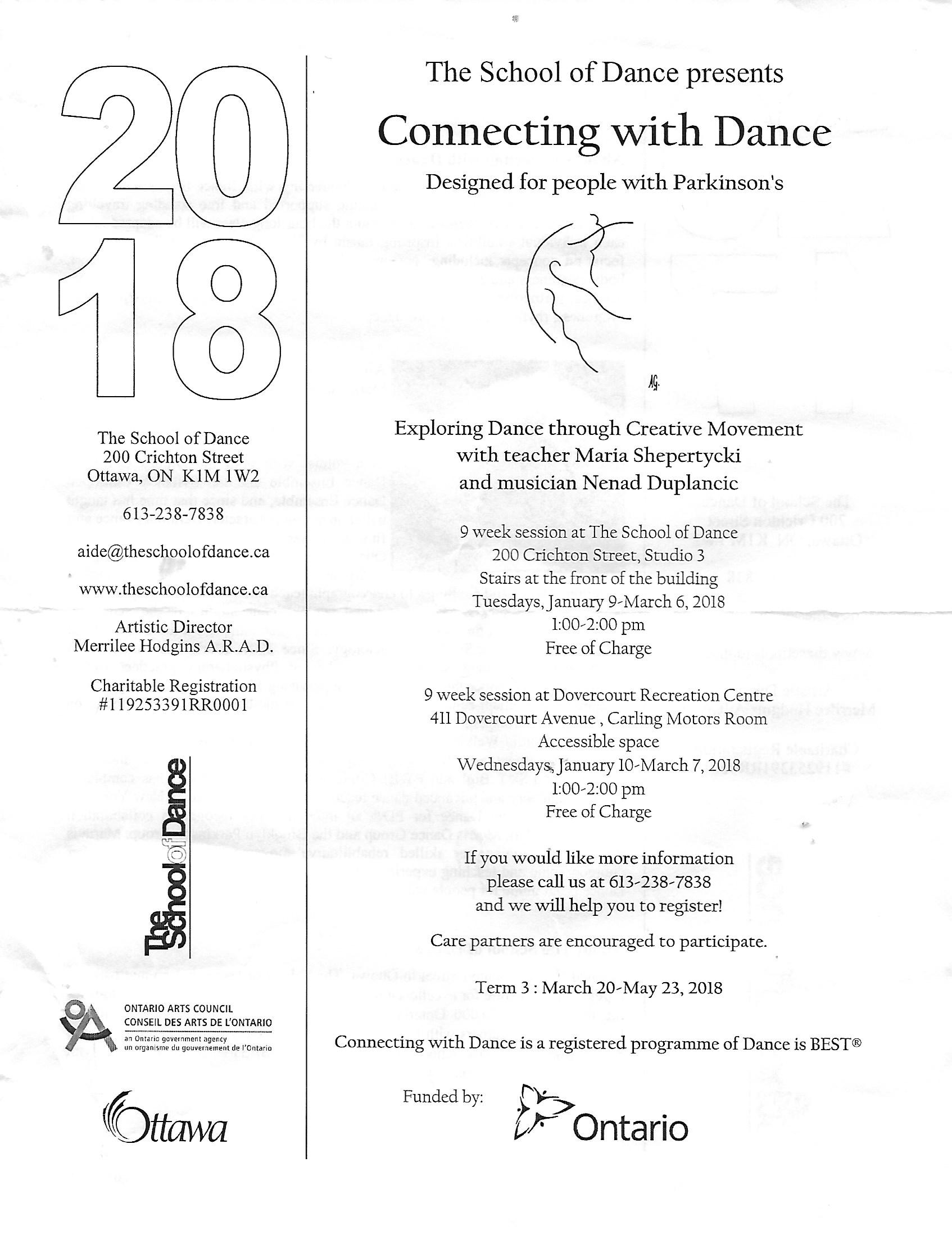School of Dance Parkinsons Notice 2018 1
