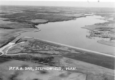 Prairie Farm Rehabilitation Administration (PFRA) Dam Stephenfield 1963